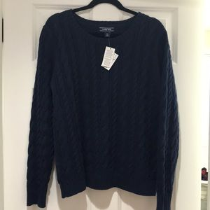 Lands' End large cable knit sweater